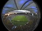 RYBÍ OKO. Netradiční pohled na stadion Maracaná v Rio de Janeiru ve chvíli, kdy...