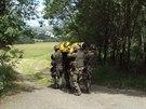 Američtí kadeti se zapojili do výcviku. Snímek ze společné patroly s vojáky ze...