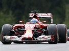 Fernando Alonso (vlevo) a Kimi Räikkönen zastupují ve Velké ceně Rakouska stáj...