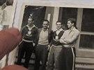 """Momentka z MS 1958 ve Švédsku. Alfred Sobotka k ní poznamenává: """"To je Gilmar,..."""