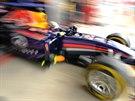 Sebastian Vettel ze stáje Red Bull během kvalifikace na VC Rakosuka.