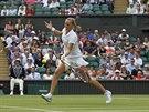 KAM TO PŮJDE? Petra Kvitová se soustředí na forhend v zápase s Venus...