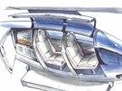 Interiér vozítka pro dvě osoby - skica