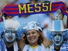 MESSI DO TOHO! Fanoušci Argentiny před utkáním s Íránem v Belo Horizonte.
