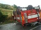 Nehoda hasičů na Mělnicku (29. června 2014)