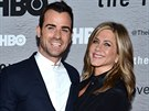 Justin Theroux a Jennifer Anistonov� na premi��e nov� �ady seri�lu HBO The Leftovers (New York, 23. �ervna 2014)