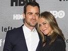 Justin Theroux a Jennifer Anistonová na premiéře nové řady seriálu HBO The...