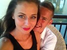 �esk� Miss 2012 Tereza Chlebovsk� a fotbalista Pavel Kade��bek str�vili...