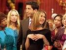 David Schwimmer a Jennifer Anistonová coby Ross a Rachel v seriálu Přátelé