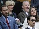 Pippa Middletonová a její bratr James na Wimbledon u (Londýn, 26. června 2014)
