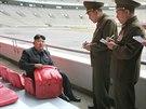 Severokorejský vůdce Kim Čong-un (27. 6. 2014).