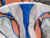 Vnitřek vesty je vyroben z velmi příjemného prodyšného materiálu.