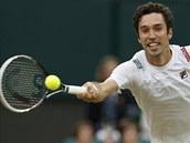 NAT�HNU SE. Michail Kuku�kin v z�pase proti Rafaelu Nadalovi.