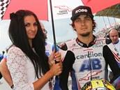 P�ED STARTEM. Karel Abraham dojel ve t��d� MotoGP v Nizozemsku na 14. m�st�.