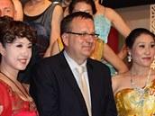 Ministr průmyslu a obchodu Jan Mládek při návštěvě čínského Nankingu.