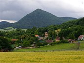 Lipská hora od vesnice Kocourov