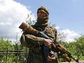 Na straně proruských separatistů bojují i obyvatelé Uzbekistánu. (22. června