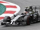 Kevin Magnussen ze stáje McLaren b�hem tréninku na VC Rakouska