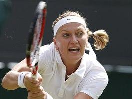 Petra Kvitová se opřela do úderu v druhém kole Wimbledonu, kde suverénně...