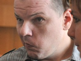 Obžalovaný David Arbet u Krajského soudu v Ostravě. (24.6.2014)