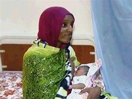 Súdánka Meriam Ishagová na snímku z 5. června