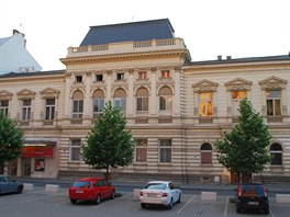 Budova Divadla Ji��ho Myrona v centru Ostravy v sou�asnosti.