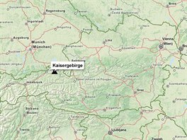 MAPA: Kaisergebirge