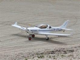 Dynamic na stojánce letiště Barra