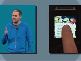 Příklad použití - aplikace Pinterest na hodinkách zobrazí, že jste blízko...