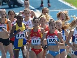 Momentka z běhu žen na 1 500 metrů v Braunschweigu