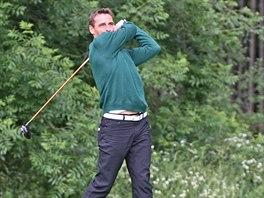 Roman Šebrle na domácím šampionátu v golfu, který se konal v Telči.