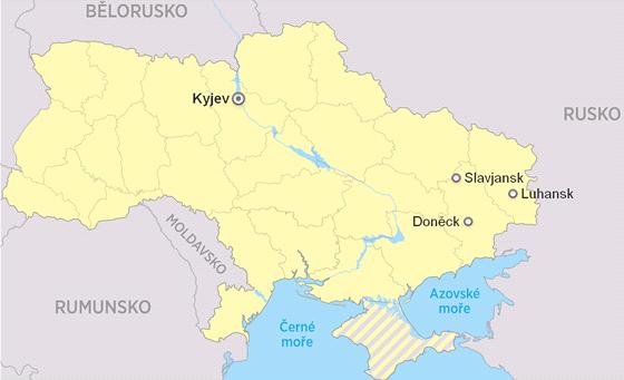 MAPA: Povstalci obvi�uj� Kyjev z pou�it� chemick�ch zbran� p�i ost�elov�n�