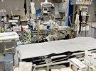 Pracoviště pro urgentní příjem pacientů v polní nemocnici v Kábulu