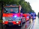 Hasiči na Národní třídě v Havířově, kde v jednom z domů vybuchl plyn. (30....