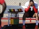 Kevin-Prince Boateng krátce před svým nuceným odletem z mistrovství světa v...