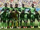 SPOLEČNÉ FOTO. Fotbalisté Nigérie pózují na společný snímek před výkopem...