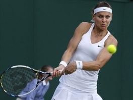 Česká tenistka Lucie Šafářová postoupila do čtvrtfinále Wimbledonu. Porazila...