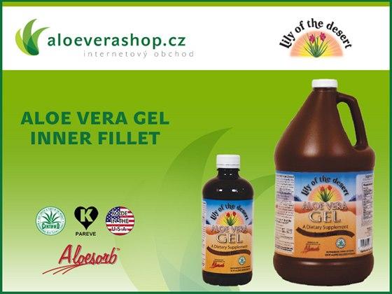Aloeverashop.cz: Doplněk stravy Aloe vera gel Inner fillet od Lily of the Desert