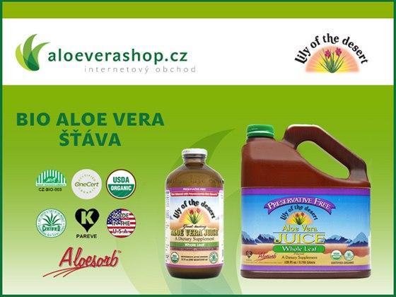 Aloeverashop.cz: Doplněk stravy BIO Aloe vera šťáva od Lily of the Desert