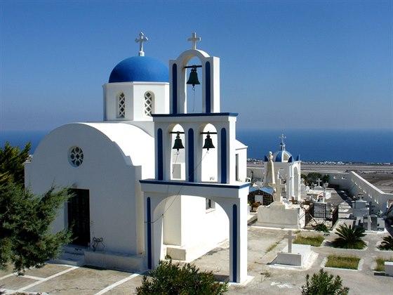Santorini je jeden z nejjižnějších ostrovů souostroví Kyklad v Egejském moři.
