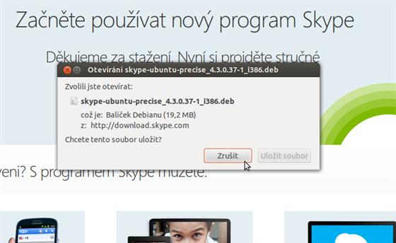 Instalace Skype