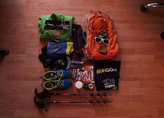 Vše co potřebuji na závod je připraveno