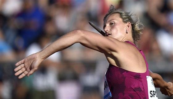 Barbora Špotáková vyhrála závod Diamantové ligy v Lausanne výkonem 66,72 metru.