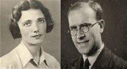 Aktéři válečné korespondence Bessie Mooreová a Chris Barker