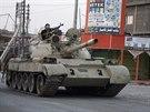 Tank kurdsk�ch pe�merg� v ir�ck� provincii Dij�la  (6. �ervna 2014)