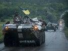 Ukrajinské jednotky v Charkovské oblasti (8. července 2014)