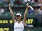 POSTUP. Simona Halepová snadno prošla do semifinále Wimbledonu.
