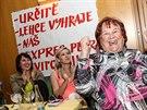 Fulnečané fandí Petře Kvitové při finále Wimbledonu v kulturním centru (5....
