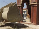 Na této nedatované fotografii poslané na web militantů je vidět, jak se...
