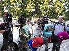 Desítky novinářů čekaly na vyjádření bývalého pražského primátora Pavla Béma ke...